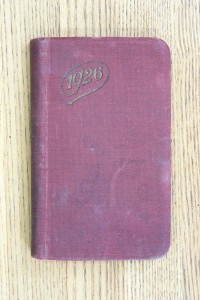 Cover 1926 Diary