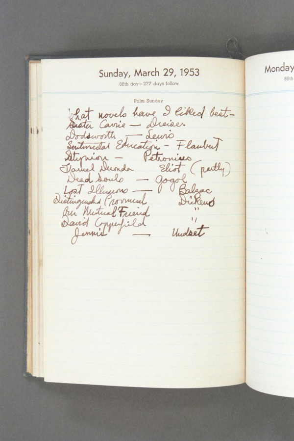 1953 Diary excerpt A P03 34