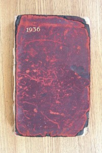 Cover 1936 Diary