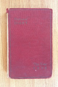Cover 1938 Diary