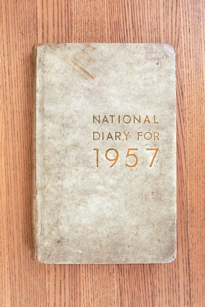 Cover 1957 Diary