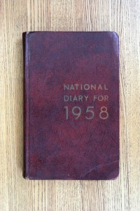 Cover 1958 Diary