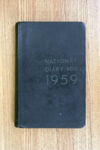Cover 1959 Diary