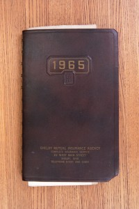 Cover 1965 Day Book Diary