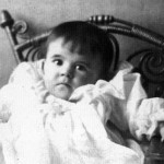 Powell as an infant.