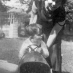 Dawn Powell and her son, Jojo, 1925.